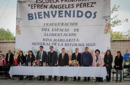 Inaugura alcalde Raúl Camacho Espacio de Alimentación Encuentro y Desarrollo en Mineral de la Reforma4