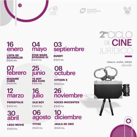 Inicia en el IFPP el 2do Ciclo de Cine Jurídico