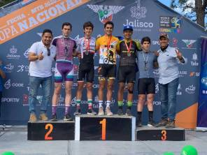 La delegación hidalguense de ciclismo participó en la primera copa nacional de MTB1