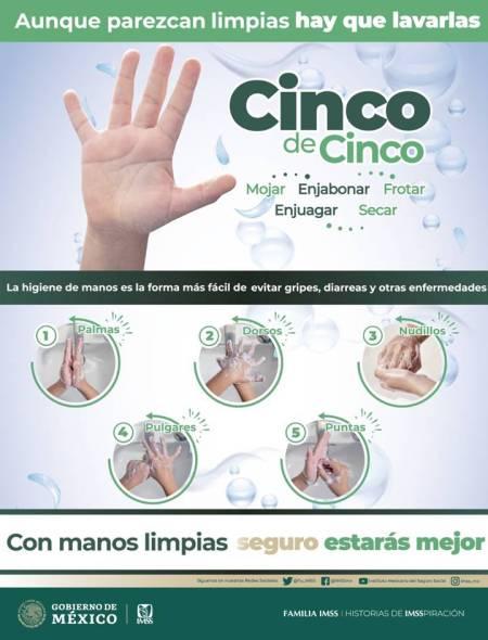 Lavado correcto de manos previene enfermedades