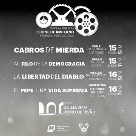 Llega Tercera Muestra de Cine de Invierno a Pachuca