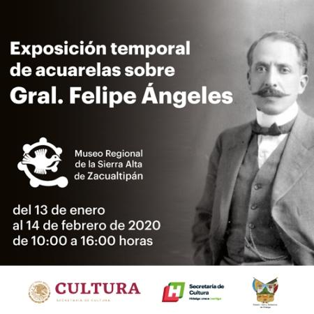 Museo Regional de la Sierra Alta ofrece exposición pictórica de Felipe Ángeles