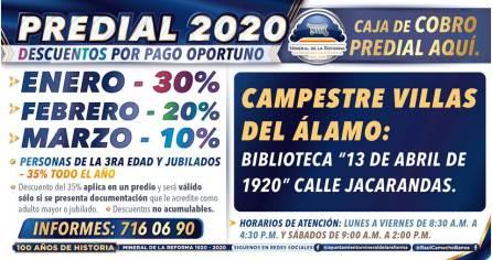 Ofrece Mineral de la Reforma, descuentos en pago predial 2020 y ventanillas de cobro en colonias7