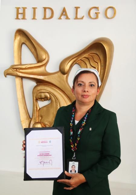 Otorgó IMSS premio al Mérito a Enfermera del Hospital Rural No. 23 de Metepec.jpg