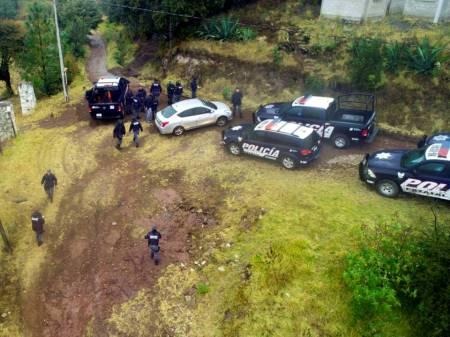 Policías de Hidalgo brindan apoyo a familia del Edomex perdida en zona boscosa2