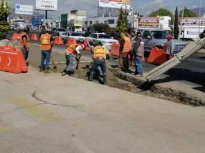 Por construcción de Puente Atirantado, realizan adecuaciones a la circulación vial bajo puente del distribuidor Miguel Hidalgo 1