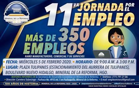 Próximo 5 de febrero, 11°Jornada por el Empleo en Mineral de la Reforma