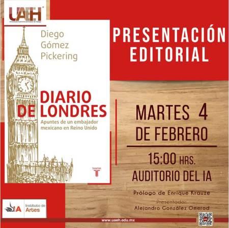 Presentará Diario de Londres ex embajador mexicano en la UAEH