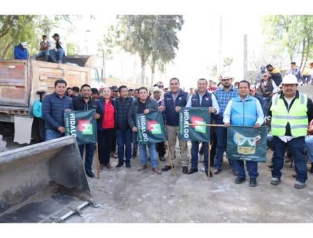 SOPOT trabaja en diversas obras en el municipio de Ixmiquilpan con una inversión de más de 8 mdp