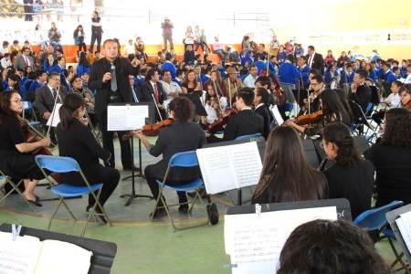 Concierto de aniversario 52 en la Telesecundaria 11 de Tolcayuca