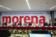 Concluyeron los trabajos de la Plenaria del grupo parlamentario de Morena en el Senado, con diversas mesas de trabajo relevantes para México4