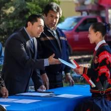 Conmemora alcalde Rául Camacho, lábaro patrio en planteles escolares 3