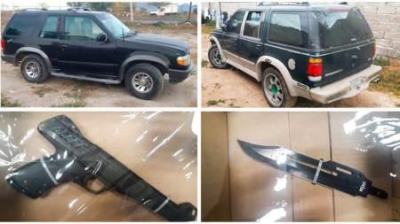 Detienen a tres individuos tras presunto robo de vehículo en Tlahuelilpan