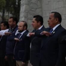 Encabeza alcalde Raúl Camacho, ceremonia cívica con motivo del 103 aniversario de la Promulgación de la Constitución