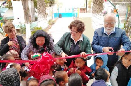 Jardín de Niños de la comunidad de Gandho, Tecozautla, cuenta con nuevos espacios para el aprendizaje