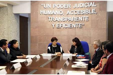 Recibe TSJEH cuestionarios para Censo Nacional de Impartición de Justicia 2020
