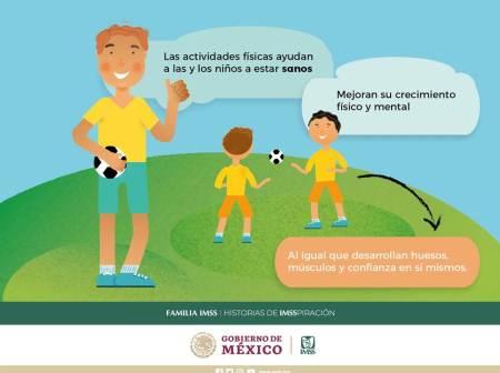 Recomienda IMSS a los menores realizar actividad física para prevenir enfermedades