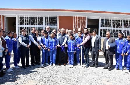 Se beneficia a comunidad escolar de la Telesecundaria 139 de Ixmiquilpan con aulas didácticas4