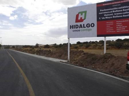 SOPOT realiza pavimentación de la carretera hacia el relleno sanitario del Huixmi