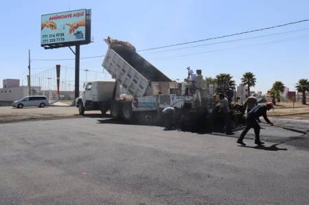 SOPOT rehabilita Avenida Presa de Jales Norte a Boulevard Nuevo Hidalgo