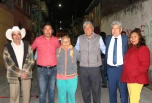 Vecinos de la calle 18 de marzo reconocen al alcalde de Tizayuca por obras y acciones1