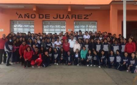 Visita Atilano Rodríguez Telesecundaria de Lolotla