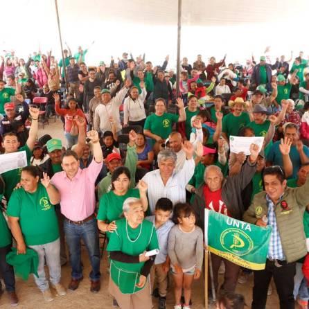 Ayuntamiento de Tizayuca entrega apoyos a agremiados de la UNTA3