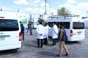 Becarios hidalguenses reciben atención preventiva en Hospital de Respuesta Inmediata COVID 19