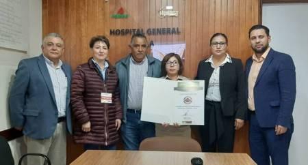 Certifican a Hospital General Pemex Tula como institución de Calidad