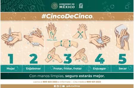 Correcto lavado de manos y limpieza de objetos de uso común previenen enfermedades virales