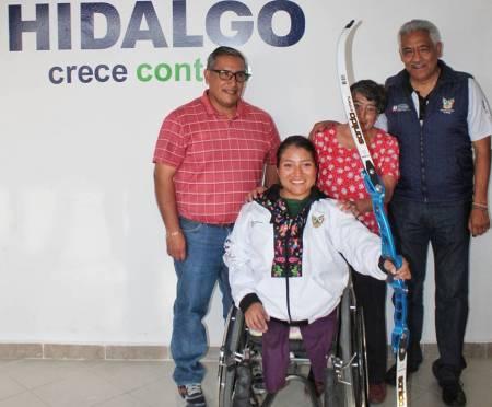 Dulce Lucero Maya con miras al Campeonato Parapanamericano de Tiro con Arco 2020