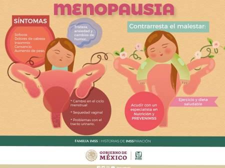 Ejercicio y dieta saludable ayuda a mitigar los síntomas de la menopausia, señala IMSS
