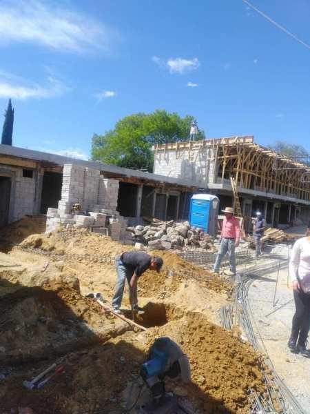 Gran avance presenta la construcción de CAIC Santiago Tulantepec