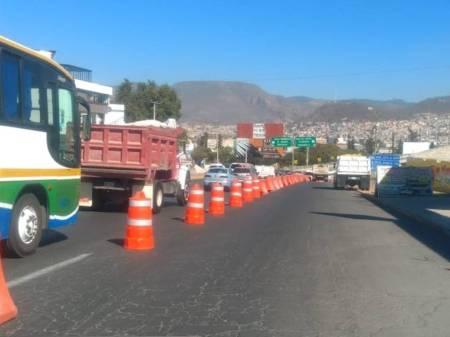 Habrá cambios de circulación en bulevar Colosio entronque Carretera Federal Pachuca-Tulancingo por trabajos de 4ª Etapa de la Supervía 1