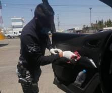 Implementan medidas de prevención de contagio en dependencias de seguridad de Santiago Tulantepec5