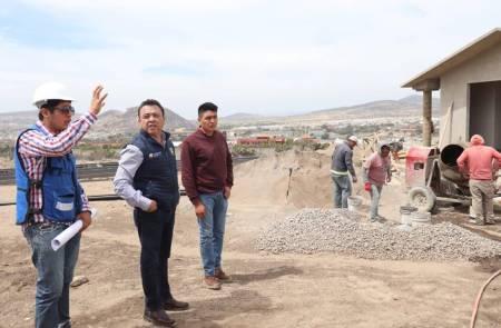 Meneses Arrieta supervisa avance del Centro de Identificación Humana para el Resguardo Temporal de Hidalgo1