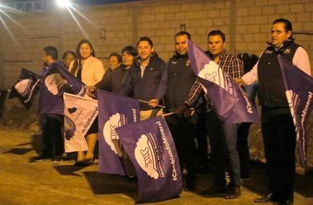 Realiza Raúl Camacho Baños banderazo de obra para la construcción de pavimentación en la localidad de NCPA Chacón 4