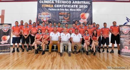 Realizan Clínica Arbitral FIMBA Certificate México 2020