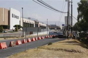 Alerta, Inhabilitan un carril de la vialidad en sentido Pachuca-México que da acceso a la plaza comercial Galerías Pachuca