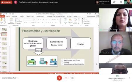 Alumna de El Colegio del Estado de Hidalgo presenta su examen de grado vía online2