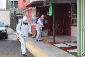 Autoridades de Zempoala llevan a cabo Programa de Desinfección en diversas calles en la zona de Fraccionamientos