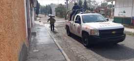 Continúa la sanitización de vialidades y espacios públicos en Tizayuca2
