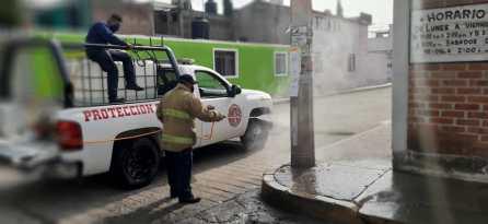 Continúa la sanitización de vialidades y espacios públicos en Tizayuca3