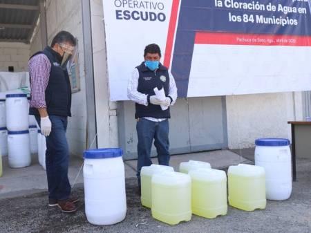 Gobierno del estado realiza entrega de insumos para cloración de agua en los 84 municipios 2