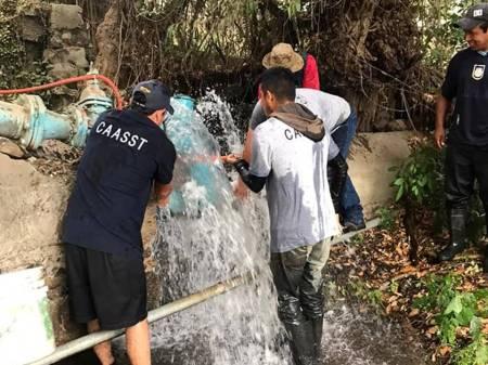 Invita CAASST de Santiago Tulantepec a evitar desperdicio de agua en Semana Santa
