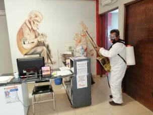 Sanitizan las instalaciones de la Presidencia Municipal de Tizayuca2