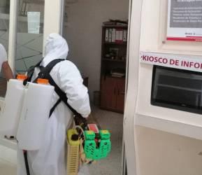 Sanitizan las instalaciones de la Presidencia Municipal de Tizayuca5