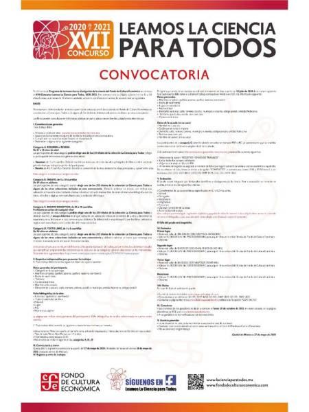 Abren la convocatoria del XVII Concurso Leamos la Ciencia para Todos, convocado por el FCE