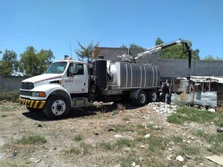 Apoya Conagua en limpieza y desazolve en Progreso de Obregón