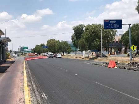 cambios en la circulación sobre los carriles centrales del Bulevar Felipe Ángeles